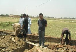 Arthur während der Bauarbeiten