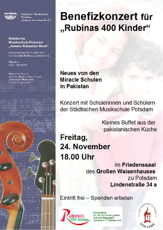 Einladung zum Benefizkonzert 24.11., 18 Uhr im Friedenssaal des großen Waisenhauses Potsdam